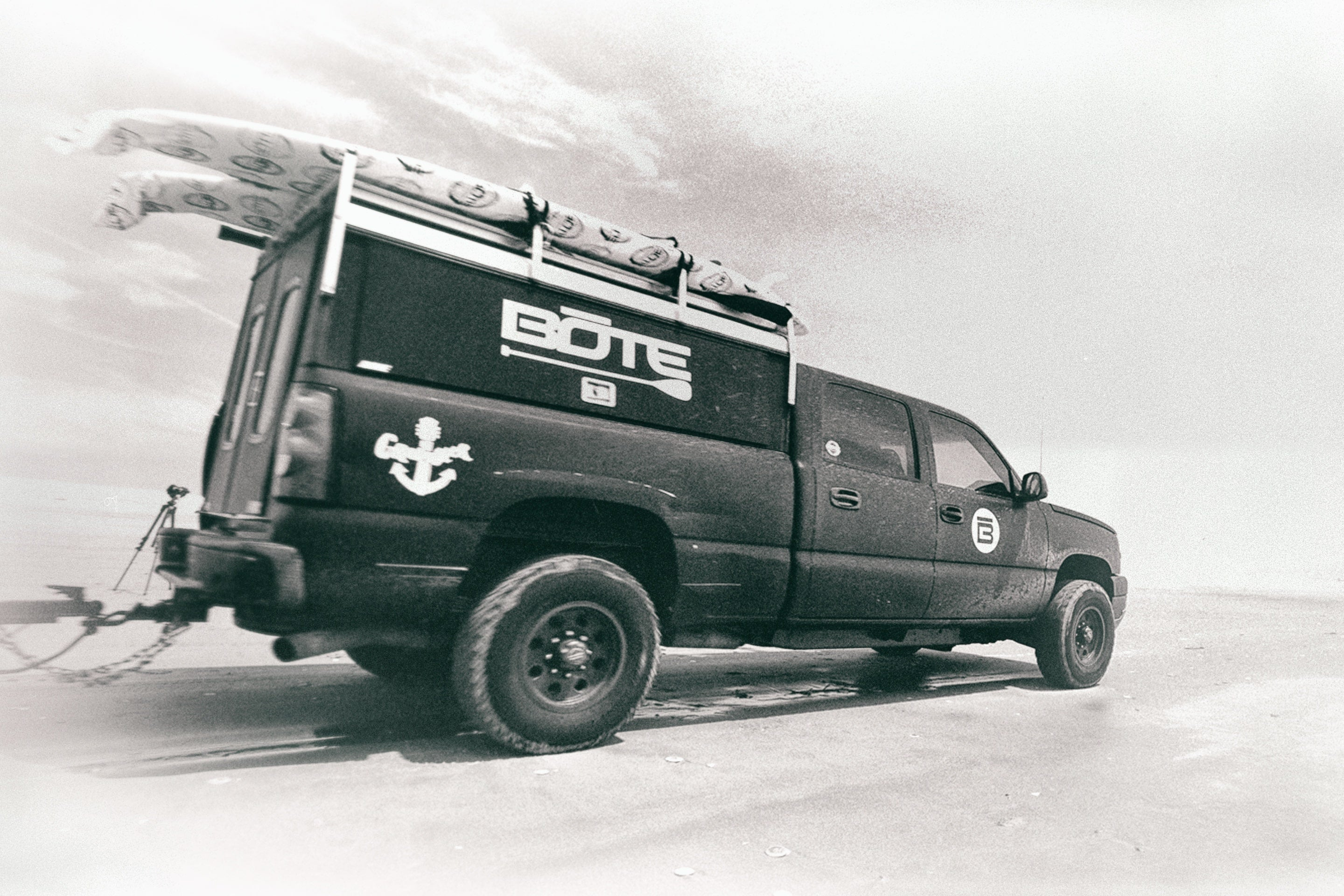 BOTE board Truck traveling across the country