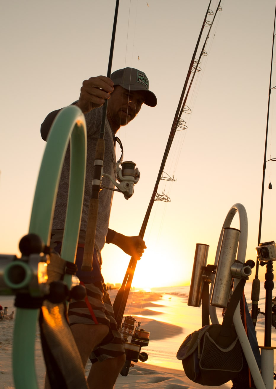 Grabbing Rods from Tackle Rac
