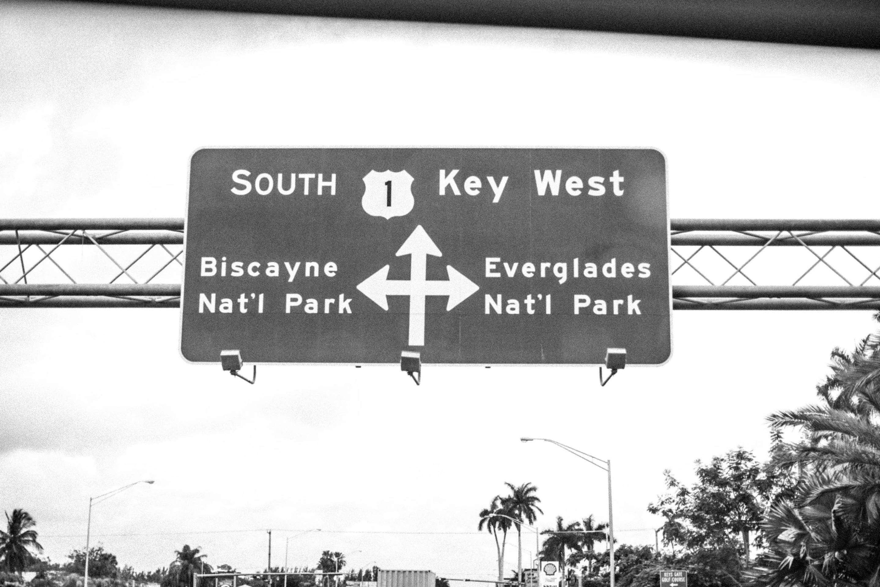 Road Sign South to Key West