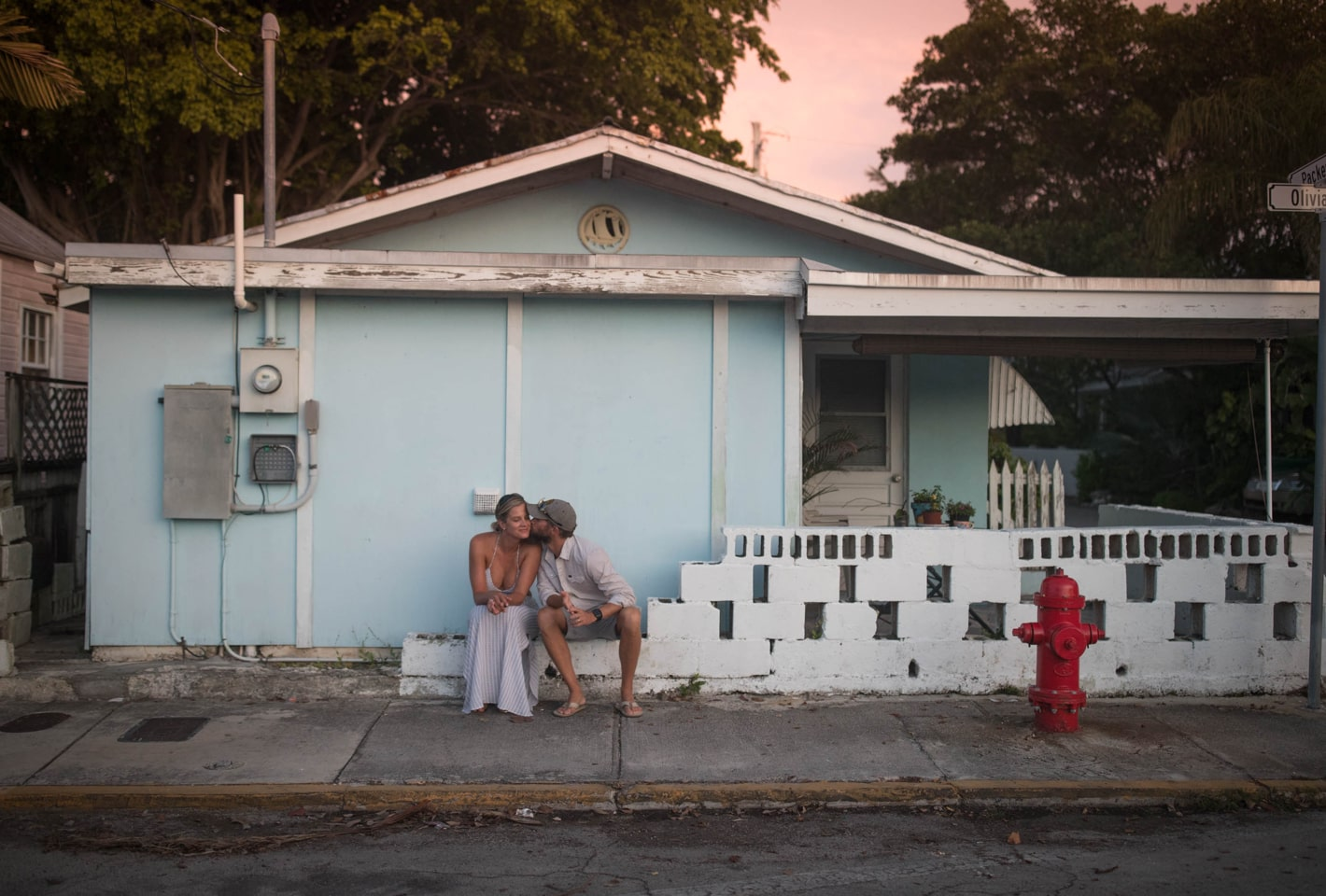 Couple Kissing in Key West