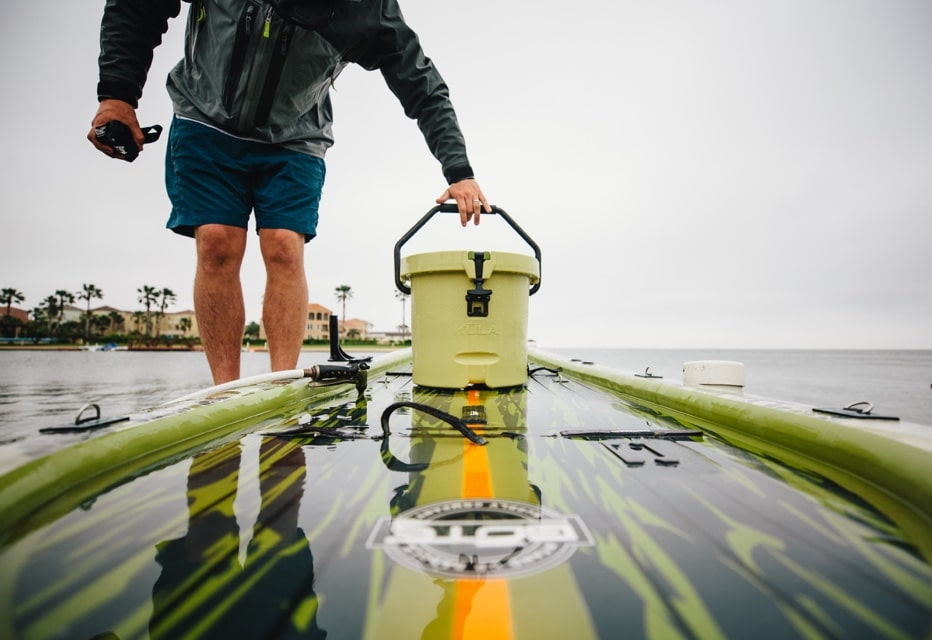 Kula cooler on BOTE rackham paddle board