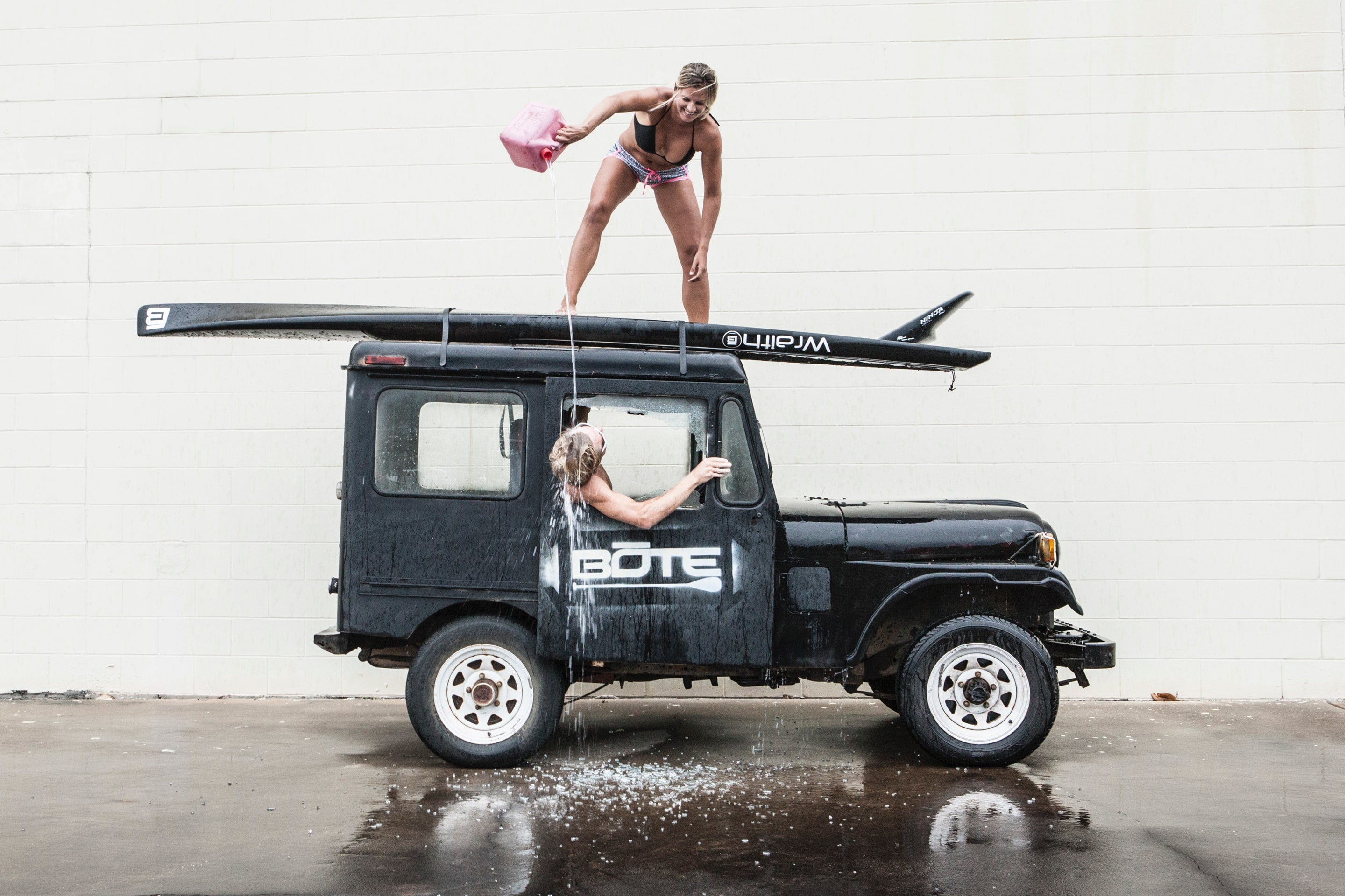 BOTE Boards, Magda atop jeep