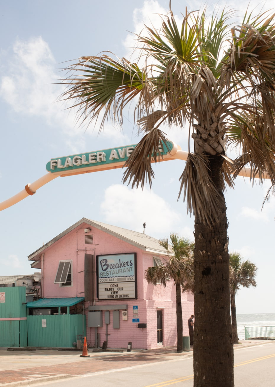 Flagler Avenue pink building