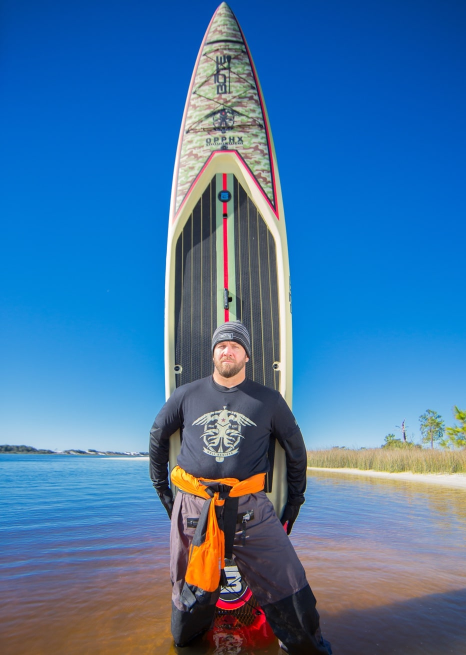 josh standing in front of BOTE operation phoenix paddle board