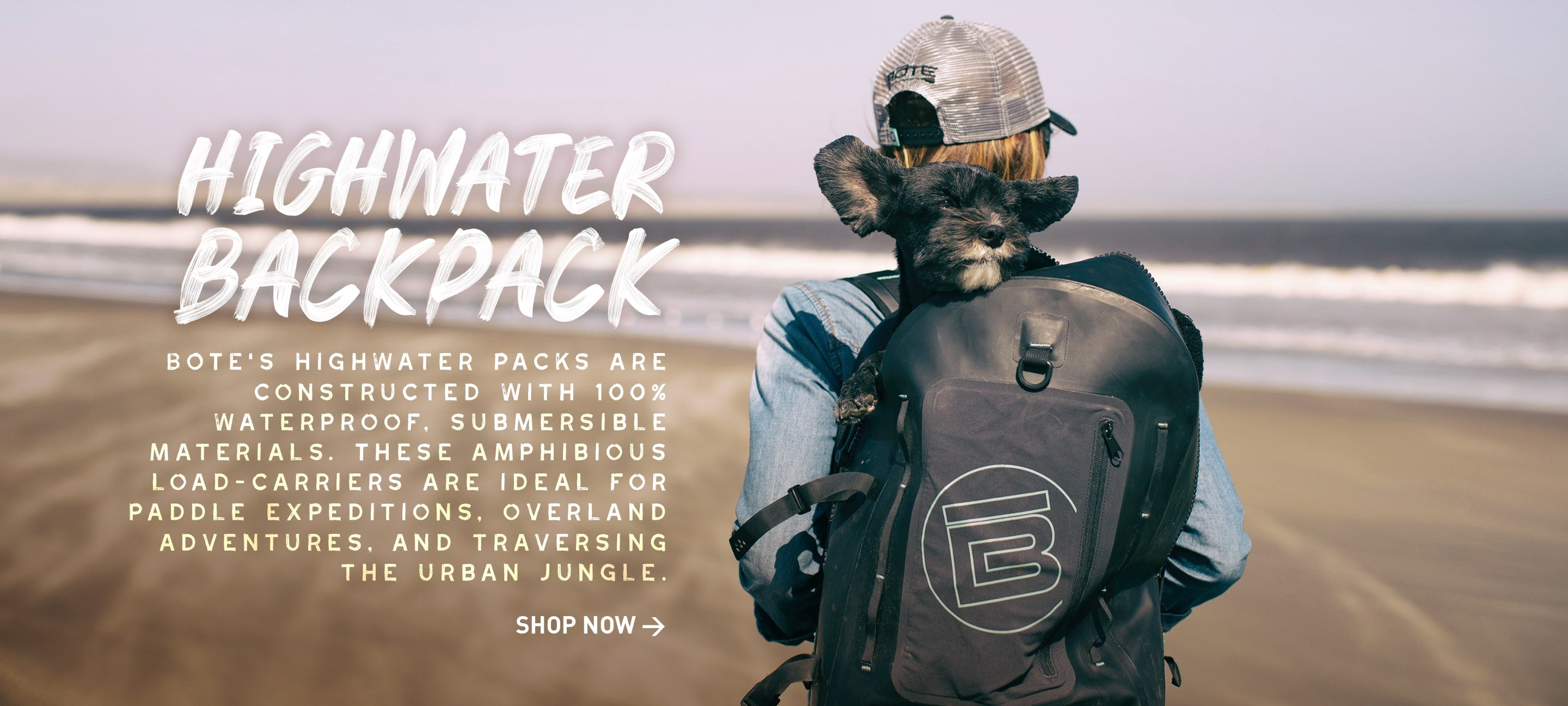 BOTE Highwater Backpack with dog