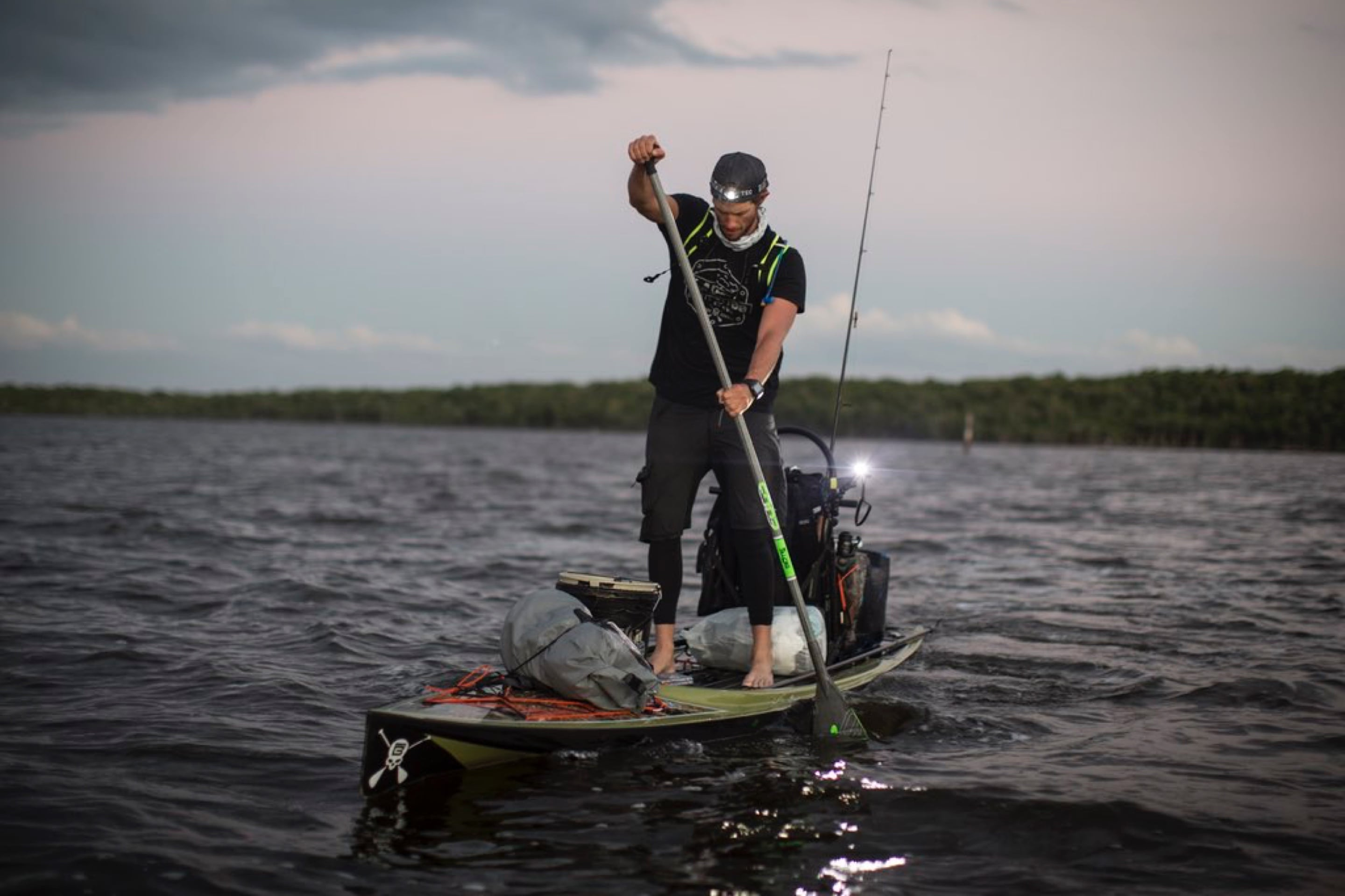 corey paddling through the everglades