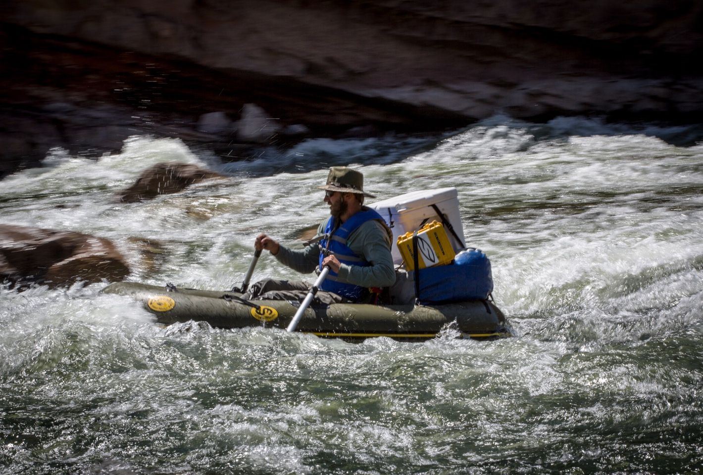 Cavin navigating the Red Creek rapid like a boss.