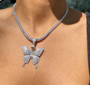 +MAIKO BUTTERFLY TENNIS NECKLACE