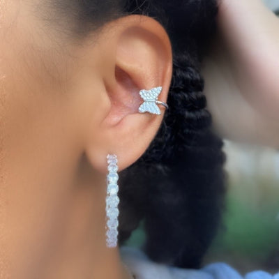 +CRYSTAL BUTTERFLY EAR CUFF (Single)