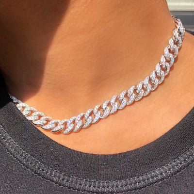 +CHICAGO CRYSTAL CHAIN NECKLACE