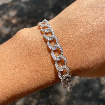 +RIYAN CRYSTAL CHAIN BRACELET (ADJUSTABLE)
