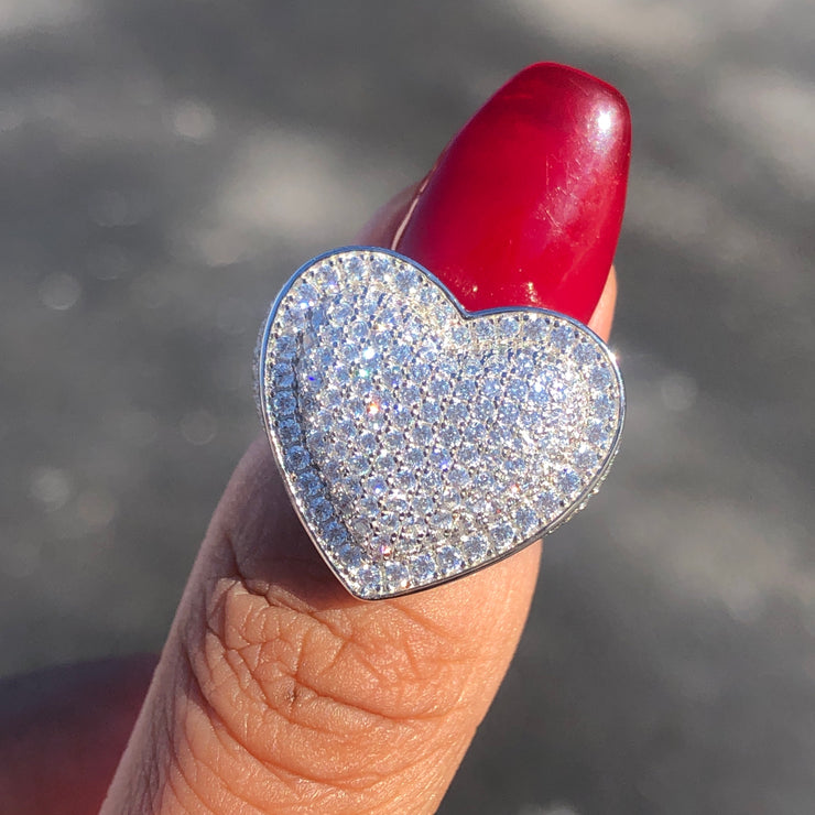 +ANGELES CRYSTAL HEART RING