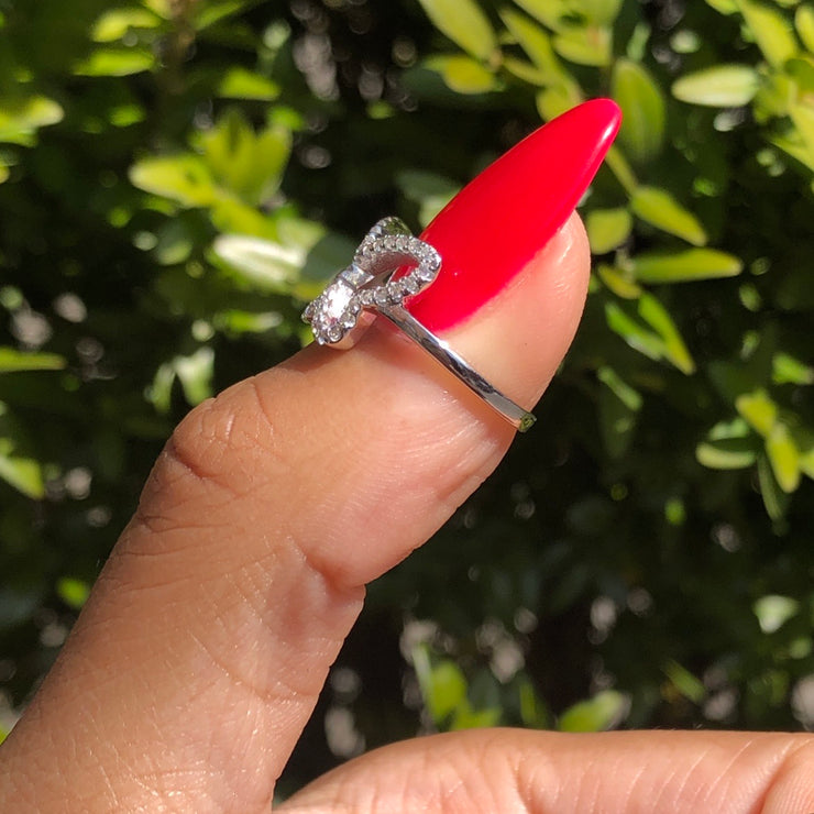 +CRYSTAL BUTTERFLY RING