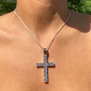 +MELROSE CRYSTAL CROSS NECKLACE