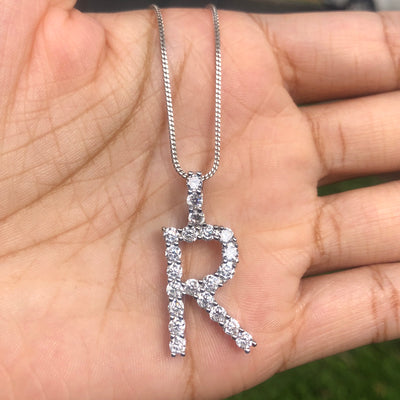 +CRYSTAL INITIAL NECKLACE