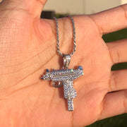 +CRYSTAL UZI NECKLACE