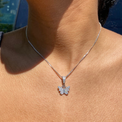 +AMARI MINI BUTTERFLY NECKLACE