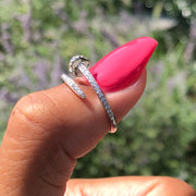 +CRYSTAL NAIL RING