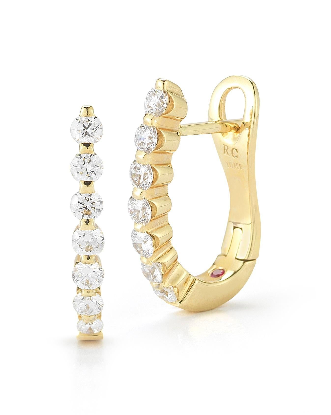 Diamond Baby Gold Hoops