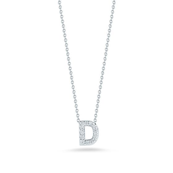"Diamond ""D"" Pendant"