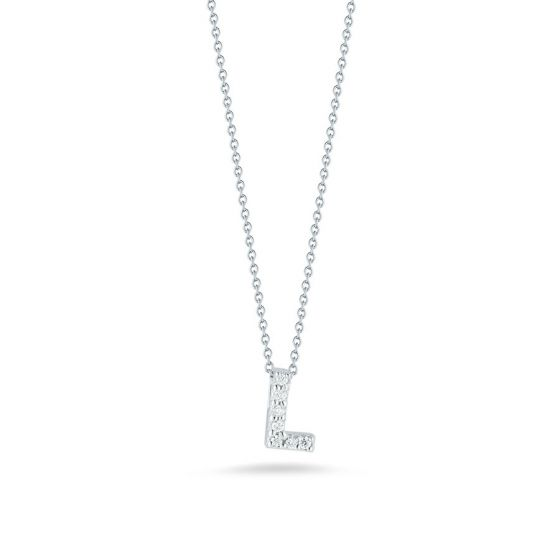 "Diamond ""L"" Pendant"