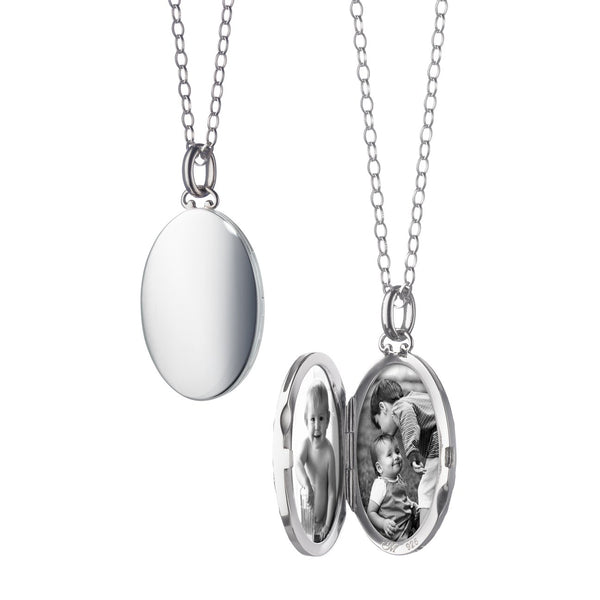 Oval Locket with Domed Edges