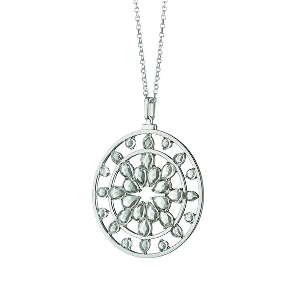 Sterling Silver Kaleidoscope Pendant with Stones