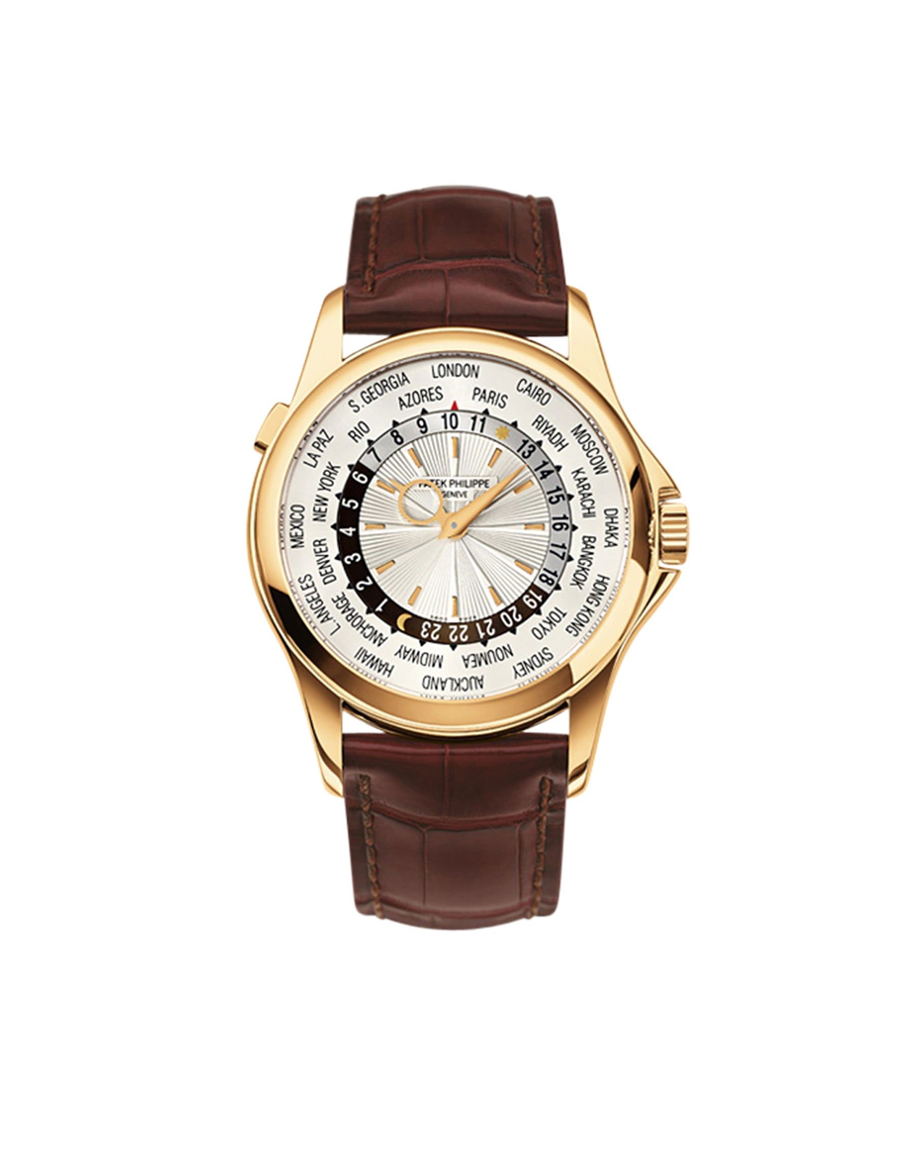 Gold World Time Watch