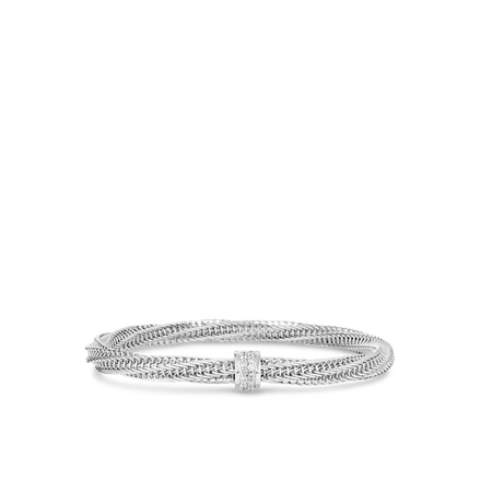 Masai 18K Yellow and White Gold Two Row Wide Bracelet