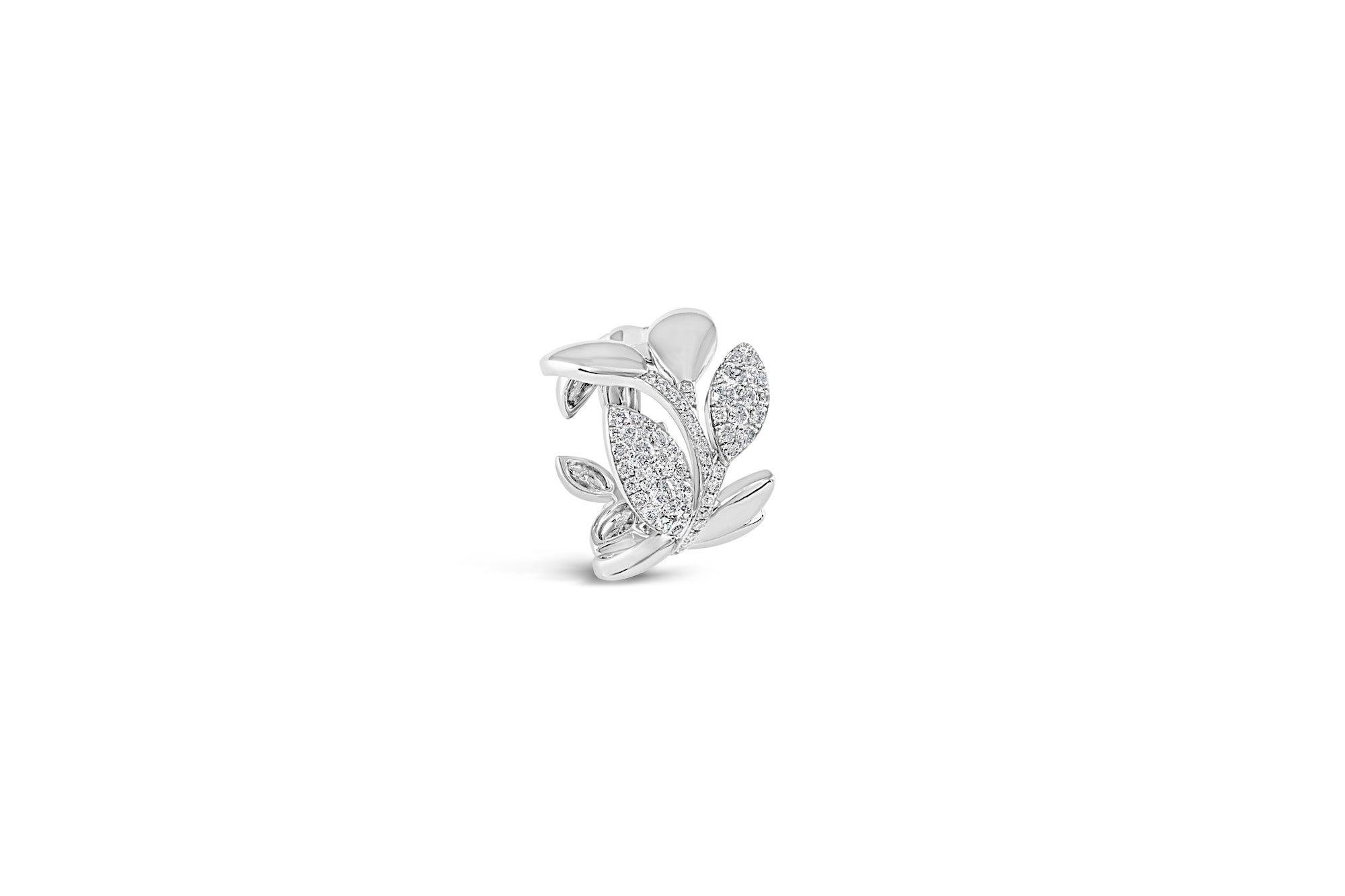 Pavé Diamond Flower Ring