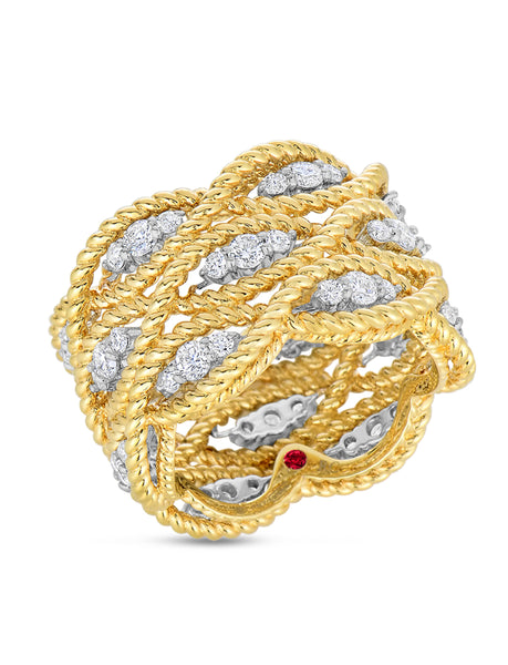 New Barocco 3 Row Diamond Ring