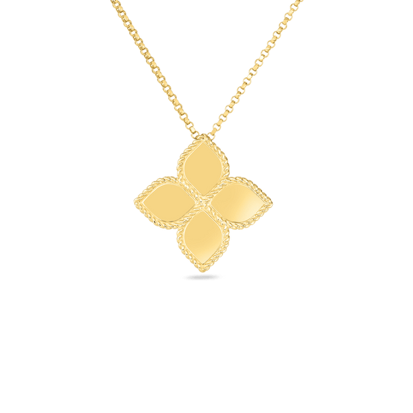 Princess Flower Large Gold Pendant