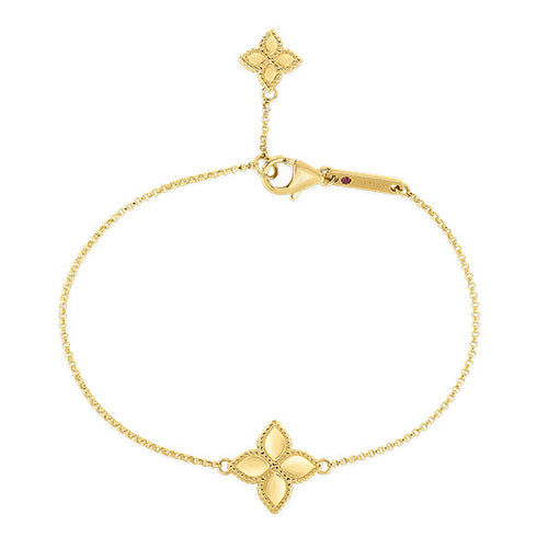 Gold Princess Flower Charm Bracelet