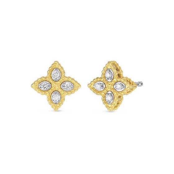 Princess Flower Diamond Earrings