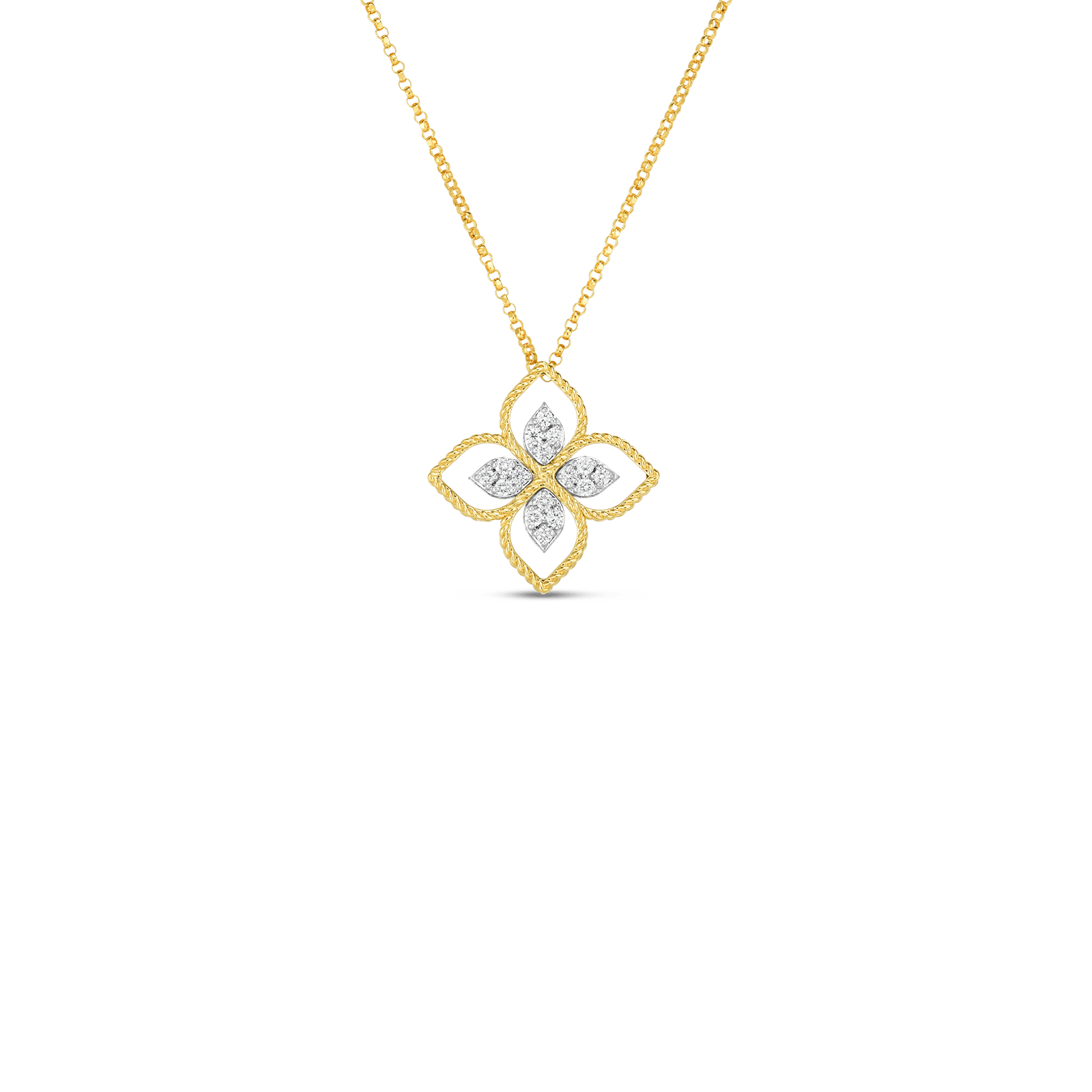 Principessa Small Flower Diamond Pendant