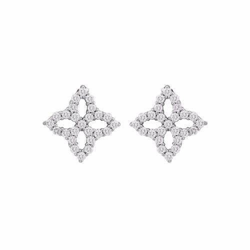 Princess Diamond Flower Earrings