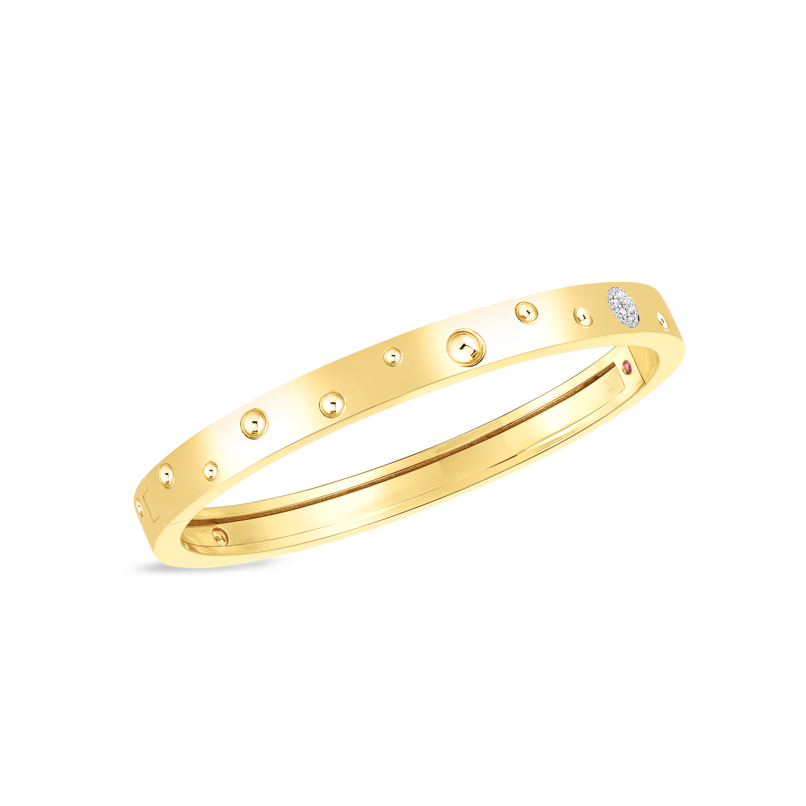 Pois Moi Thin Bangle with Diamonds