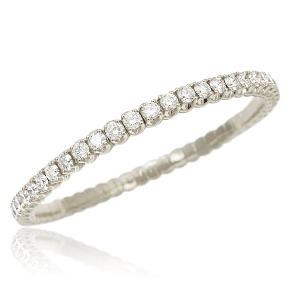 White Gold Xpandable™ Diamond Bracelet