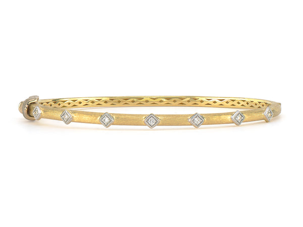 Lisse Simple Diamond Accent Kite Bangle