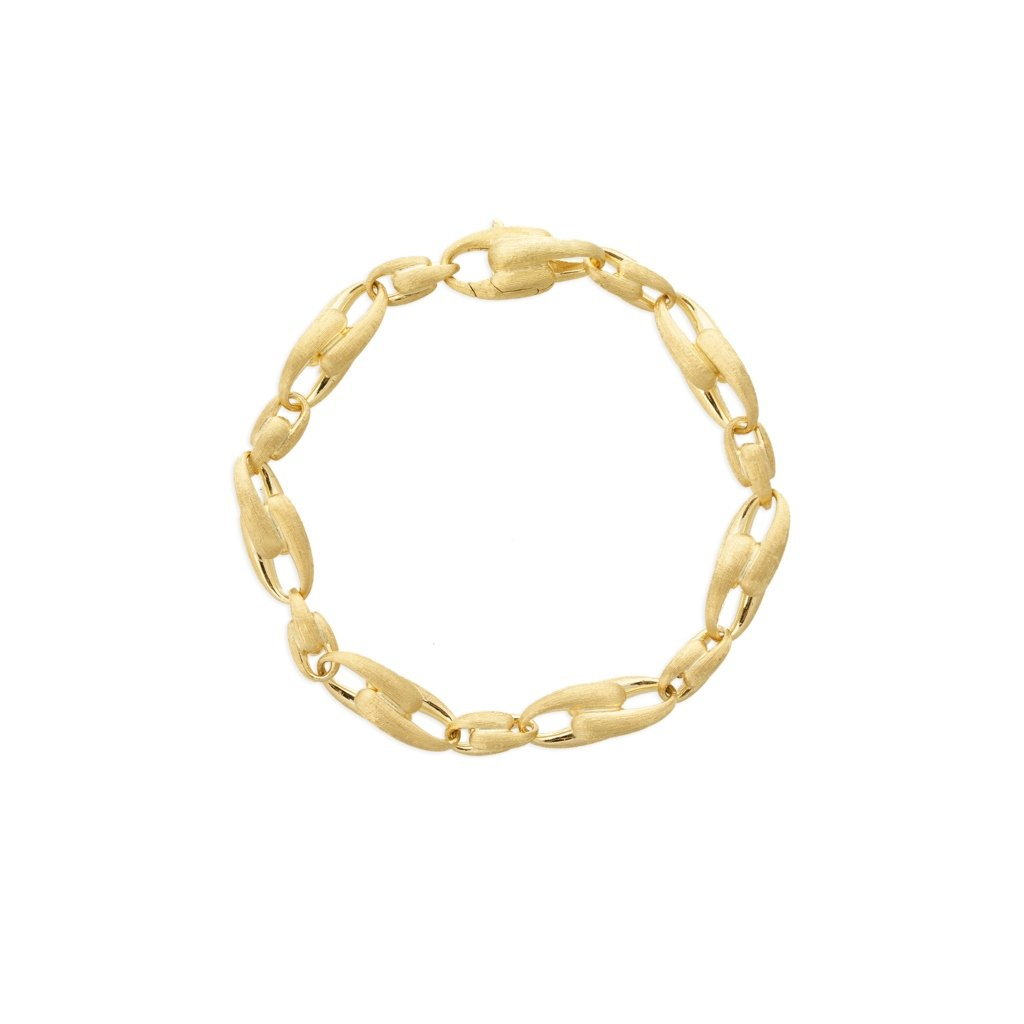 Lucia 18K Yellow Gold Medium Alternating Link Bracelet