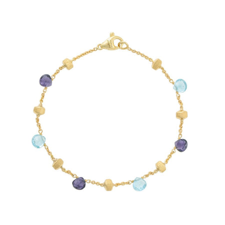 Paradise 18K Yellow Gold Mixed Gemstone Two Strand Graduated Bracelet