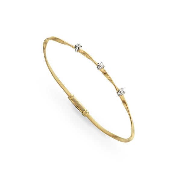 Marrakech 18k Yellow Gold and Diamond Stackable Bangle