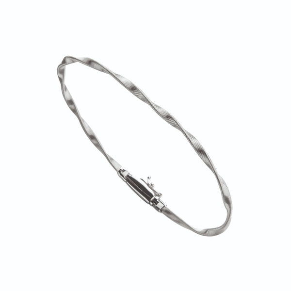 Marrakech 18K White Gold Stackable Bangle