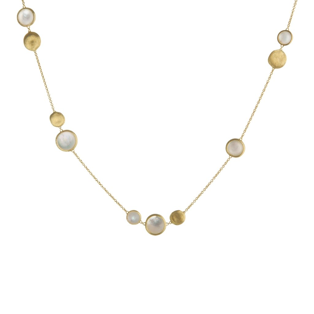 Jaipur 18K Yellow Gold and Mother of Pearl Necklace
