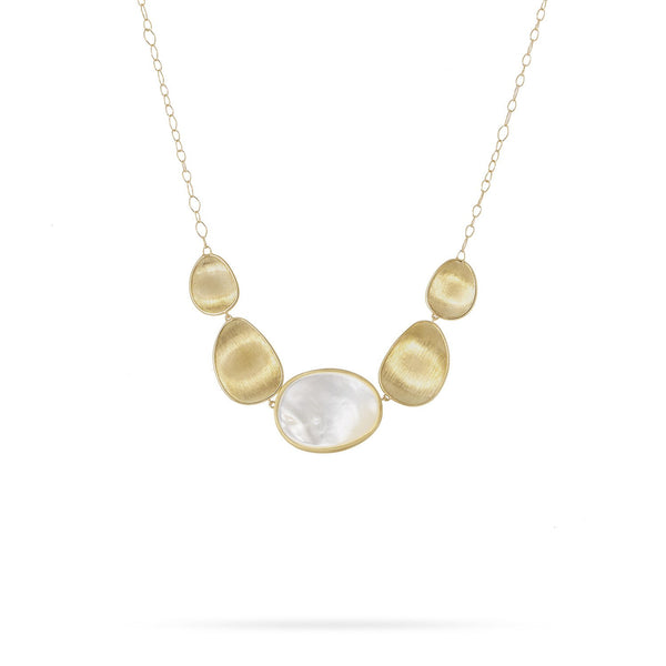 Lunaria 18K Yellow Gold White Mother of Pearl Short Necklace