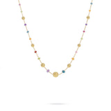 Africa Gemstone 18K Yellow Gold Mixed Gemstone Necklace