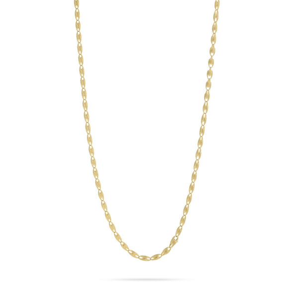 "Lucia 18K Yellow Gold Small Link 47"" Chain Necklace"