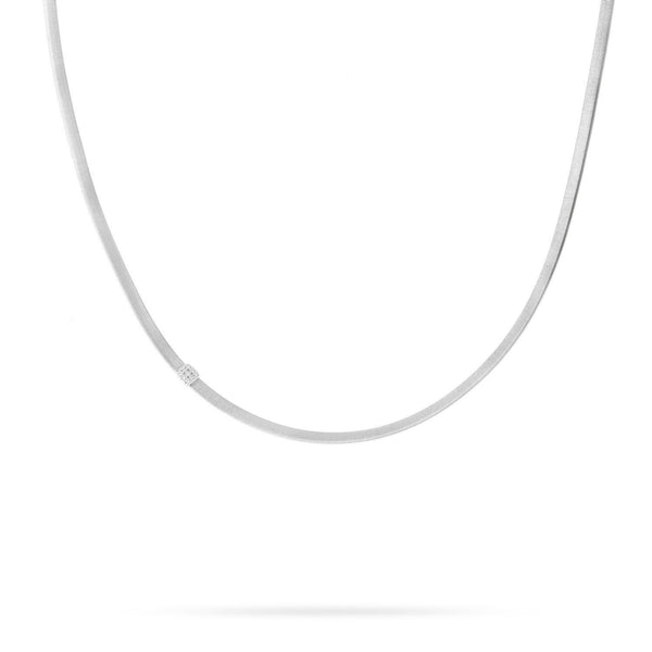 Masai 18K White Gold and Diamond Single Station Necklace