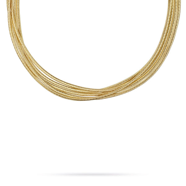 18K Gold Five Strand Necklace