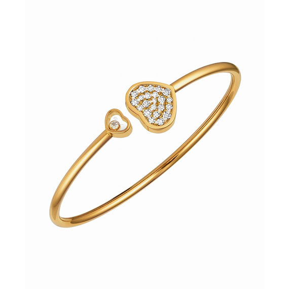 Chopard Happy Hearts Bangle in Rose Gold with Diamonds